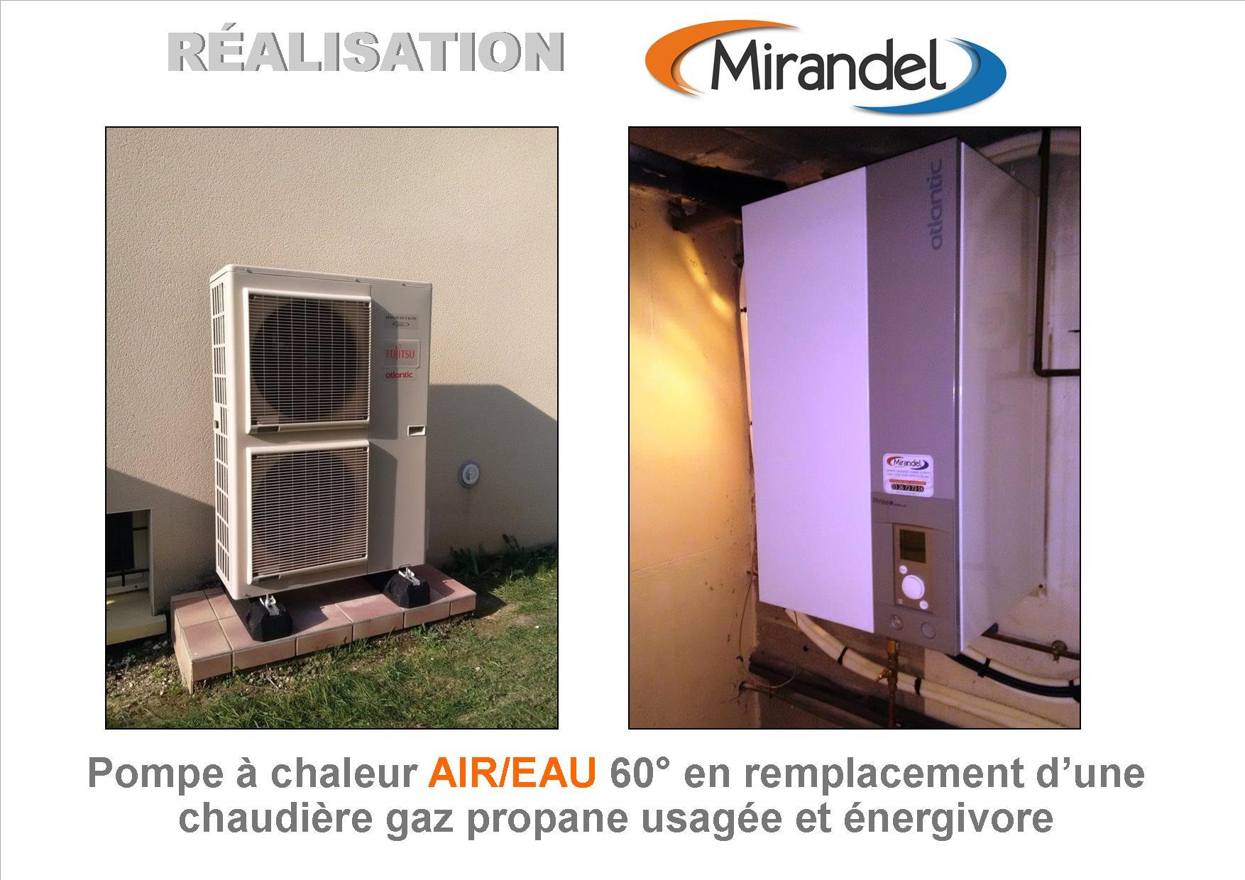 Remplacement chaudière gaz propane usagée par pompe à chaleur air eau à MAISONS EN CHAMPAGNE (51300)