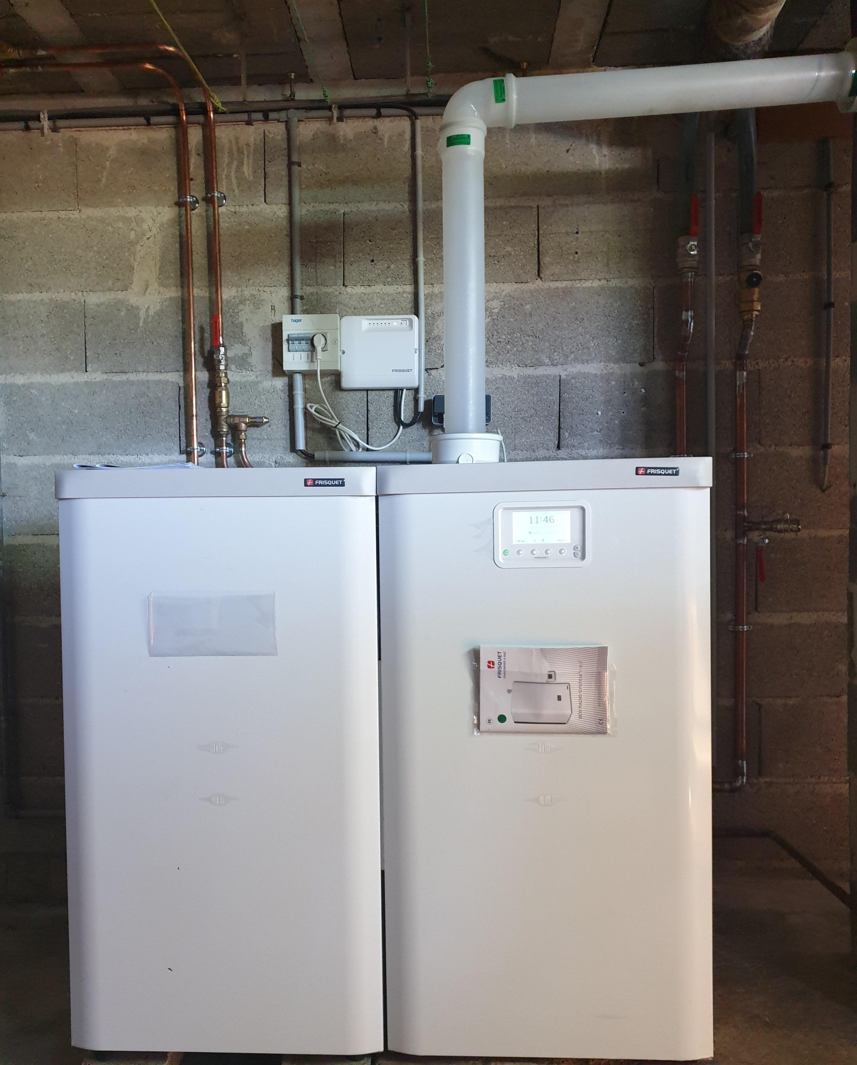 Chaudière gaz condensation en remplacement d'une chaudière haut rendement à ECLARON (52290)