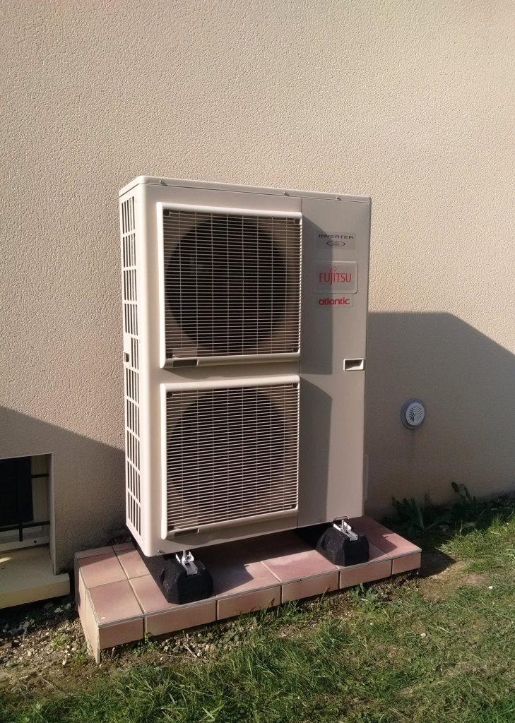 Pompe à chaleur AIR EAU en remplacement de chaudière gaz propane 51300 MAISONS EN CHAMPAGNE