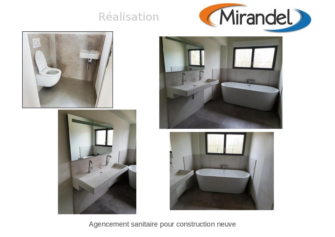 Agencement sanitaire pour construction neuve à FERE CHAMPENOISE (51230)
