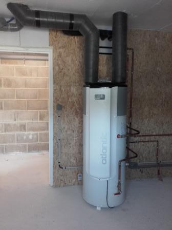 Chauffe-eau thermodynamique sur air extrait à CLAMANGES